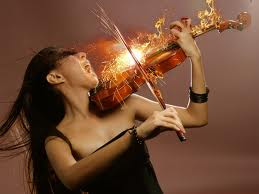 Passion with Violin on Fire