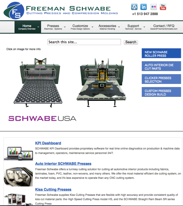 Freeman Schwabe Website View