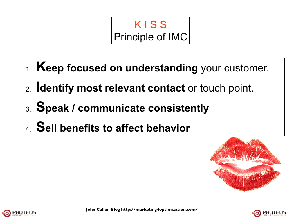 kiss principle of integrated marketing communications